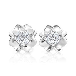 Andrew Charles 14k White Gold 1/2ct TDW Diamond Stud Earrings