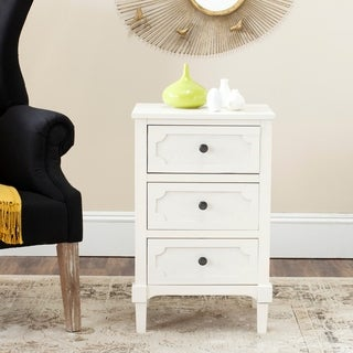 Safavieh Rosaleen White 3-Drawer Storage Side Chest