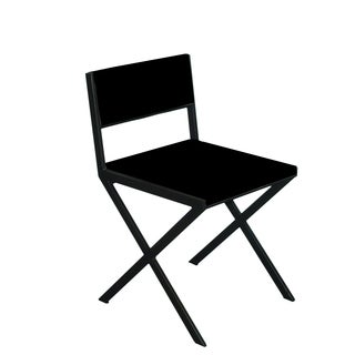 Chee Black Chair Black Wood Dining Chair (Set of 2)
