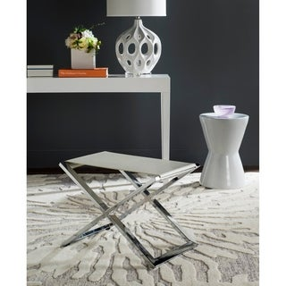 Safavieh Modern Glam Verdi White/ Crocodile End Table