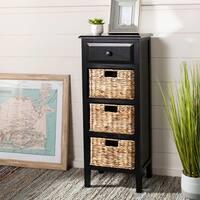 Safavieh Michaela Distressed Black 4-Drawer Storage Side Table