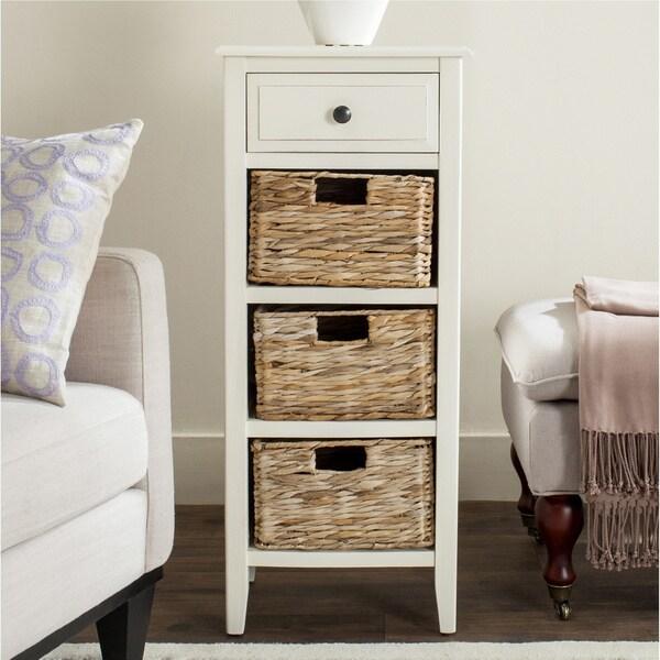 Shop Safavieh Michaela Distressed White 4 Drawer Storage
