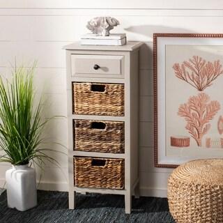 Safavieh Michaela Vintage Grey 4-Drawer Storage Side Table