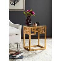 Safavieh Byram Antique Gold Leaf End Table
