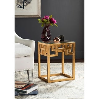 "Safavieh Byram Antique Gold Leaf End Table - 16"" x 12"" x 20.5"""