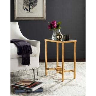 Safavieh Mita Antique Gold Leaf End Table