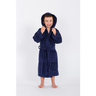 Sweet Kids Midnight Blue Turkish Cotton Hooded Unisex Terry Bathrobe