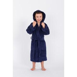 Sweet Kids Midnight Blue Turkish Cotton Hooded Unisex Terry Bathrobe