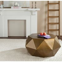 Safavieh Astrid Copper Faceted Coffee Table
