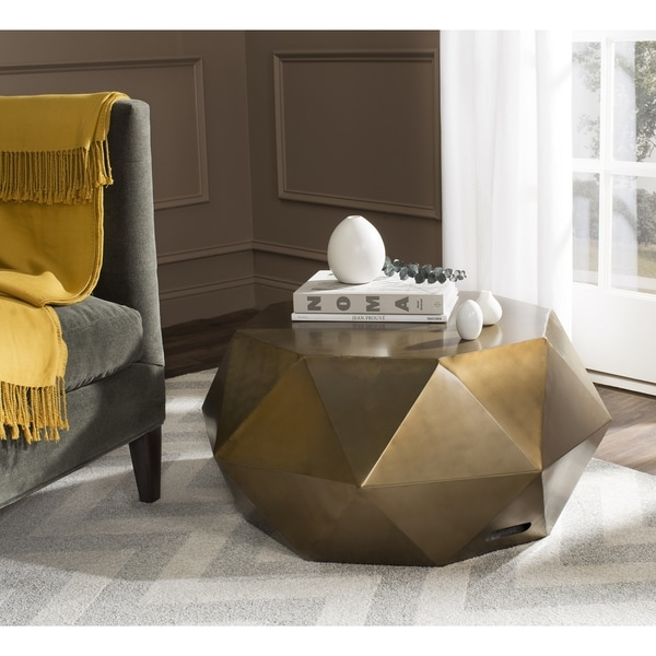 Faceted Copper Coffee Table