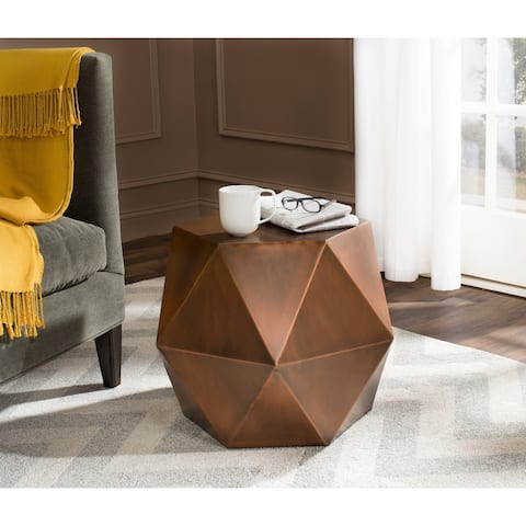 """Safavieh Astrid Copper Faceted Side Table - 21"""" x 19.5"""" x 21"""""""