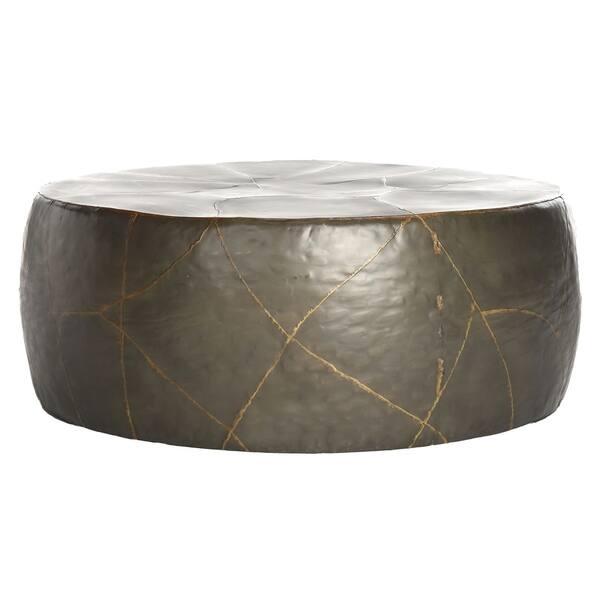 Safavieh Vernice Silver Metal Drum