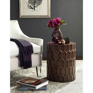 """Safavieh Corey Antique Copper Side Tables - 15"""" x 15"""" x 19.5"""""""