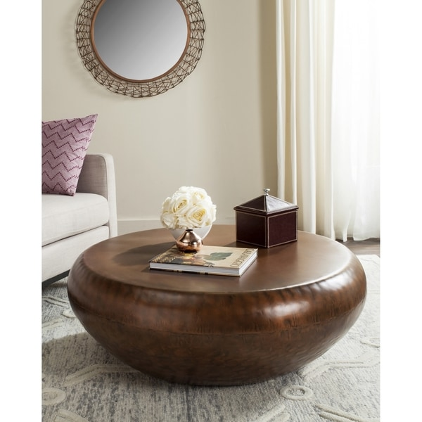 Shop Safavieh Patience Copper Coffee Table