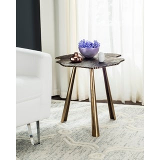 Safavieh Portia Brass Leaf Side Table