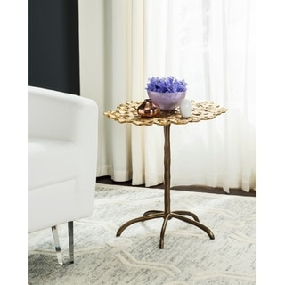 Cordoba Indoor Outdoor Silver Round Side Table 13989620