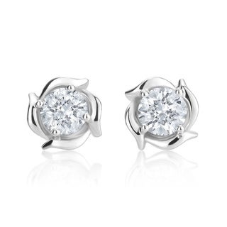 Andrew Charles 14k White Gold 1ct TDW Diamond Stud Earrings (H-I, SI2-I1)