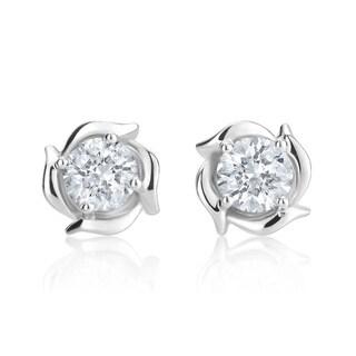 Andrew Charles 14k White Gold 1ct TDW Diamond Stud Earrings