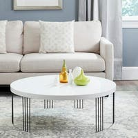 Safavieh Mid-Century Modern Keelin White Lacquer Coffee Table