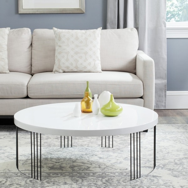 Safavieh Mid-Century Modern Keelin White Lacquer Coffee Table