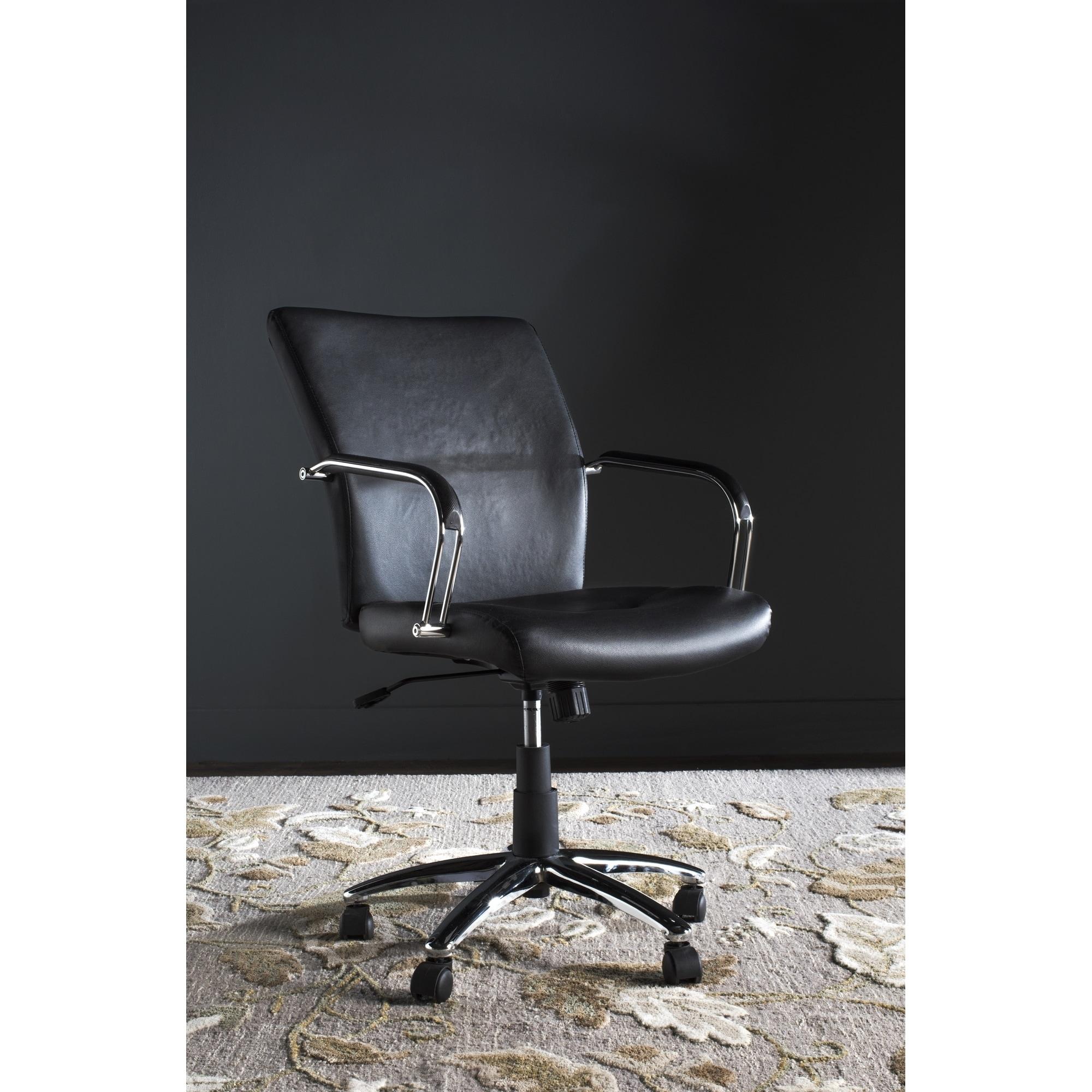 Clay Alder Home Onion Creek Adjustable Swivel Black Desk Chair