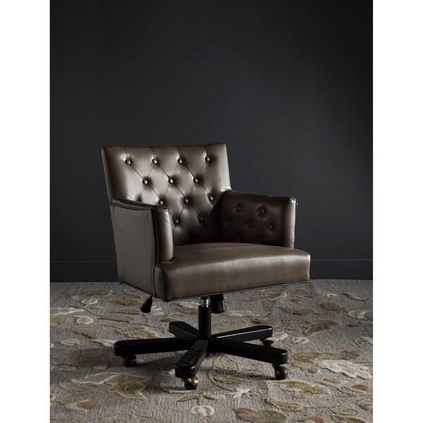 "Safavieh Chambers Adjustable Swivel Clay/ Black Desk Chair - 26.4"" x 26.1"" x 35"""