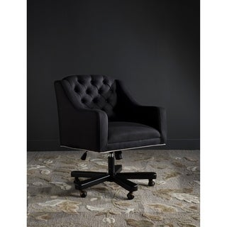 Safavieh Salazar Adjustable Swivel Black/ Taupe Desk Chair