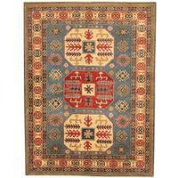 Herat Oriental Afghan Hand-knotted Tribal Kazak Wool Rug (5' x 6'8)