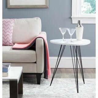 "Safavieh Wolcott White/ Black Lacquer Side Table - 19.6"" x 19.6"" x 23.6"""