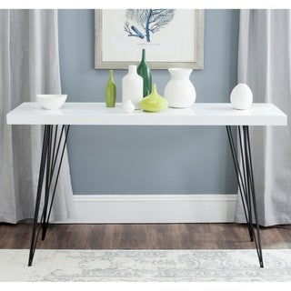 Safavieh Mid-Century Wolcott White/ Black Lacquer Console Table
