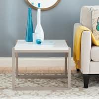 Safavieh Mid-Century Modern Bartholomew White/ Grey Lacquer End Table