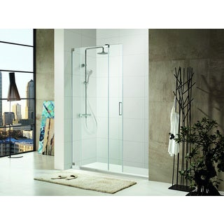SBS72-P - Premium 3/8 in. (10 mm) Thick Clear Tempered Glass, Size: 60 in. W x 72 in. H, Frameless Shower Door in Chrome