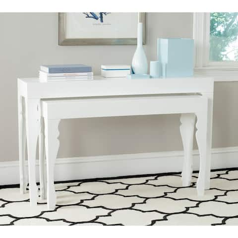 "SAFAVIEH Beth White Lacquer Nesting Table - 51"" x 13.3"" x 31.5"""
