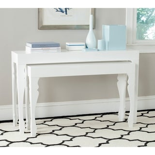 "Safavieh Beth White Lacquer Nesting Table - 51"" x 13.3"" x 31.5"""