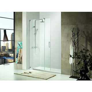 SBS48-P - Premium 3/8 in. (10 mm) Thick Clear Tempered Glass, Size: 48 in. W x 72 in. H, Frameless Shower Door in Chrome