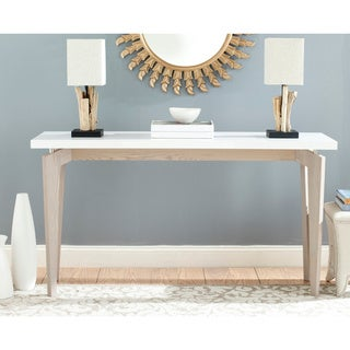 "Safavieh Josef White/ Grey Lacquer Console Table - 59"" x 17.6"" x 31.5"""