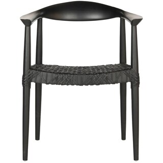 Safavieh Rural Woven Dining Bandelier Black Arm Chair