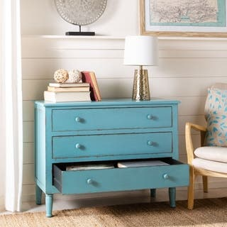 Safavieh Talbet Distressed Blue 3-Drawer Storage Chest|https://ak1.ostkcdn.com/images/products/11408347/P18372979.jpg?impolicy=medium