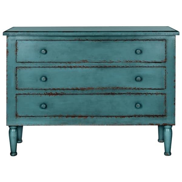 Shop Safavieh Talbet Distressed Blue 3-Drawer Storage Chest ...