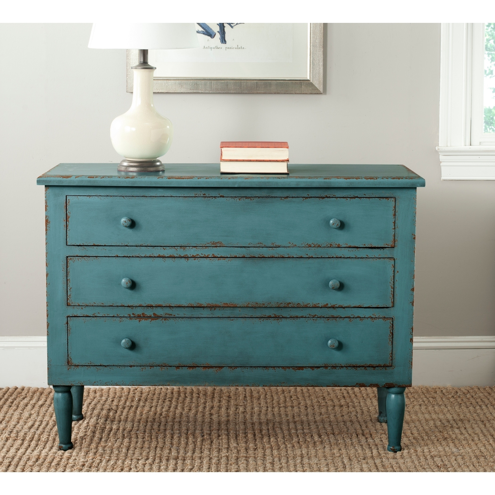 3c921da46f2 Shop Safavieh Talbet Distressed Blue 3-Drawer Storage Chest - On Sale -  Free Shipping Today - Overstock - 11408347