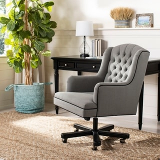 "Safavieh Nichols Adjustable Swivel Granite/ Black Desk Chair - 26.4"" x 30.9"" x 39.8"""