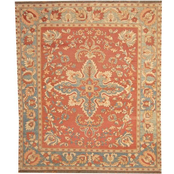 Handmade Herat Oriental Afghan Tribal Soumak Kilim Wool Rug (Afghanistan) - 7'6 x 8'10