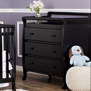 Dream On Me, Liberty Collection 3 Drawer Changing Table (Option: Espresso/Black - Black)