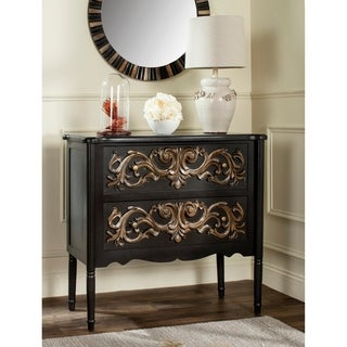 Safavieh Lennx Black/ Gold 2-Drawer Storage Chest