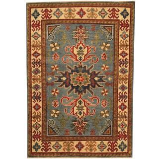 Herat Oriental Afghan Hand-knotted Tribal Kazak Wool Rug (3'5 x 5')