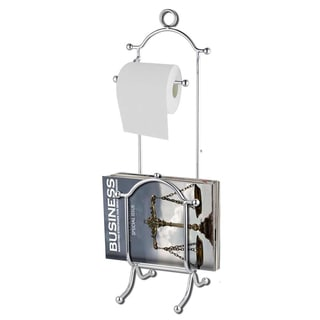 Toilet Paper Dispenser with Magazine Rack
