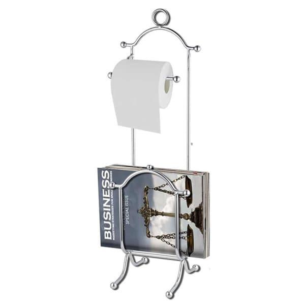 Toilet Paper Dispenser with Magazine Rack