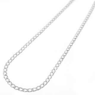 """Sterling Silver Italian 3mm Cuban Curb Link ITProlux Solid 925 Necklace Chain 16"""" - 30"""" (More options available)"""
