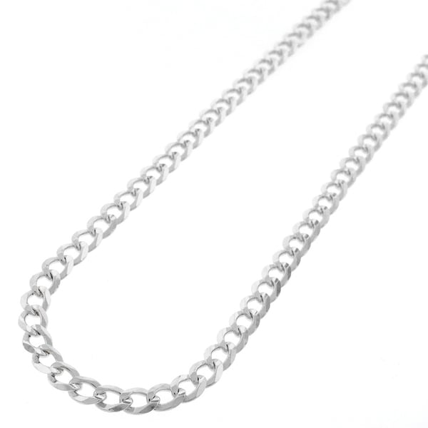 "Sterling Silver Italian 5mm Cuban Curb Link ITProlux Solid 925 Necklace Chain 16"" - 30"""