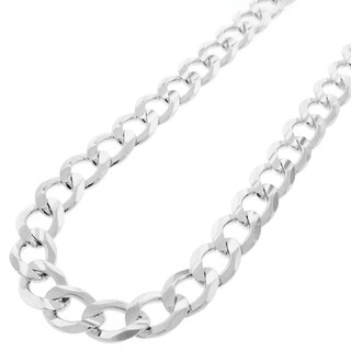 "Sterling Silver Italian 10.5mm Cuban Curb Link ITProlux Solid 925 Necklace Chain 24"" - 30"""